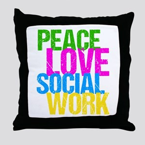 Social Work Cute Throw Pillow