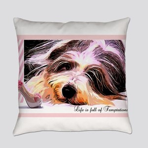 Bearded Collie Temptation Everyday Pillow