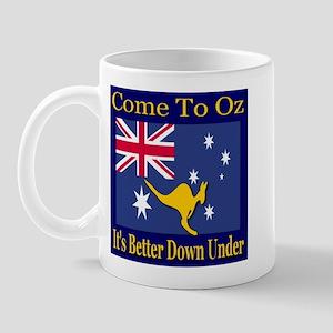 Come To Oz It's Better Down U Mug