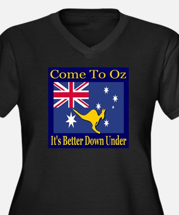 Come To Oz It's Better Down U Women's Plus Size V-