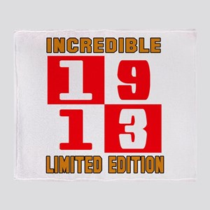 Incredible 1913 Limited Edition Throw Blanket