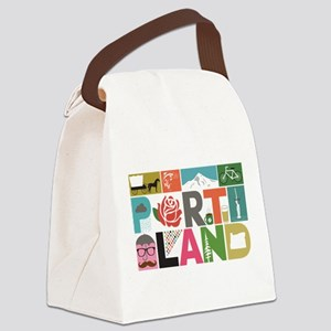 Unique Portland - Block by Block Canvas Lunch Bag