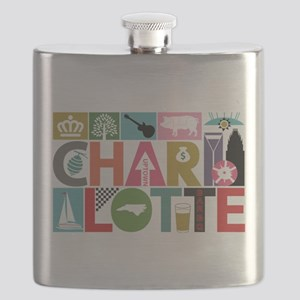 Unique Charlotte - Block by Block Flask