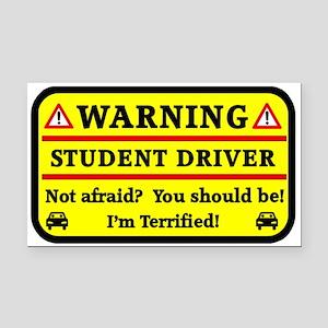 Warning Student Driver Rectangle Car Magnet