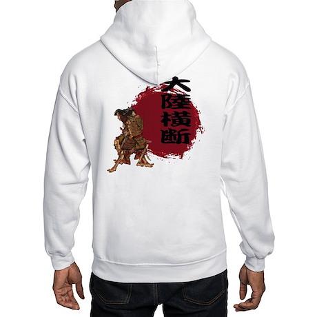 """Continent crossing"" 2 - Hooded Sweatshirt"