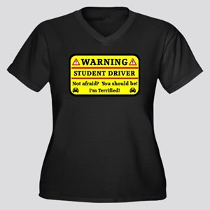Warning Student Driver Plus Size T-Shirt