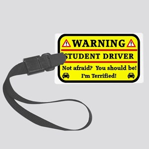 Warning Student Driver Luggage Tag
