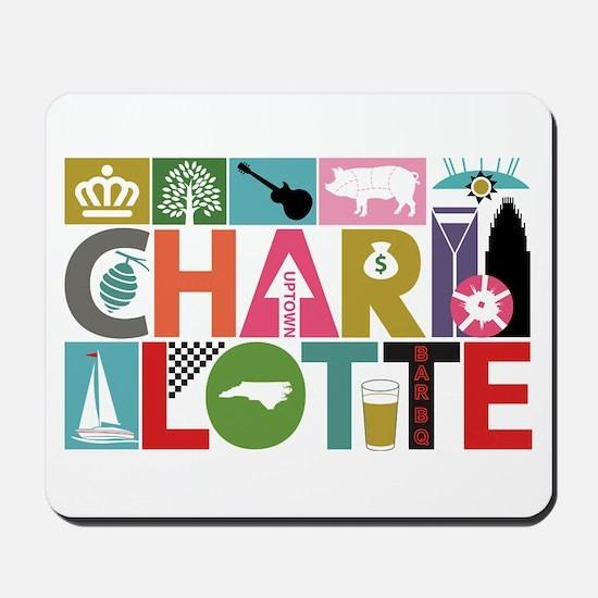 Unique Charlotte - Block by Block Mousepad