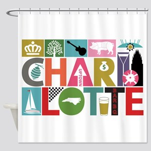 Unique Charlotte - Block by Block Shower Curtain