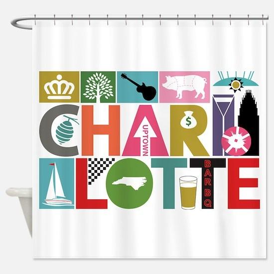 Unique Charlotte - Block by Block Shower Curtain