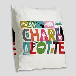 Unique Charlotte - Block by Bl Burlap Throw Pillow