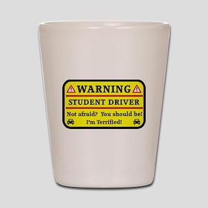 Warning Student Driver Shot Glass