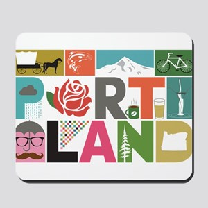 Unique Portland - Block by Block Mousepad