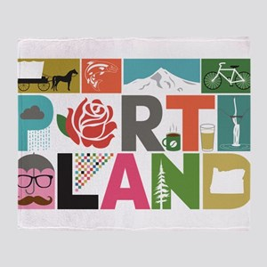 Unique Portland - Block by Block Throw Blanket