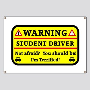 Warning Student Driver Banner