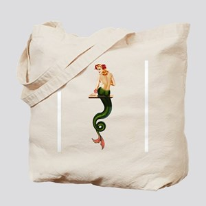 Vintage Pin Up Mermaid ~ Summer Tote Bag