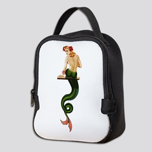 Vintage Pin Up Mermaid ~ Summer Neoprene Lunch Bag