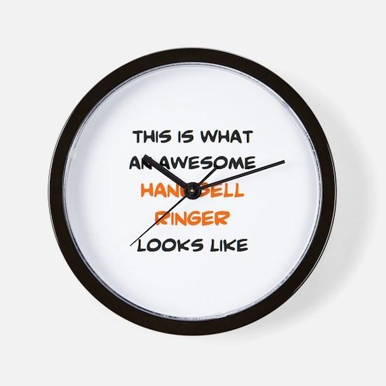 awesome handbell ringer Wall Clock