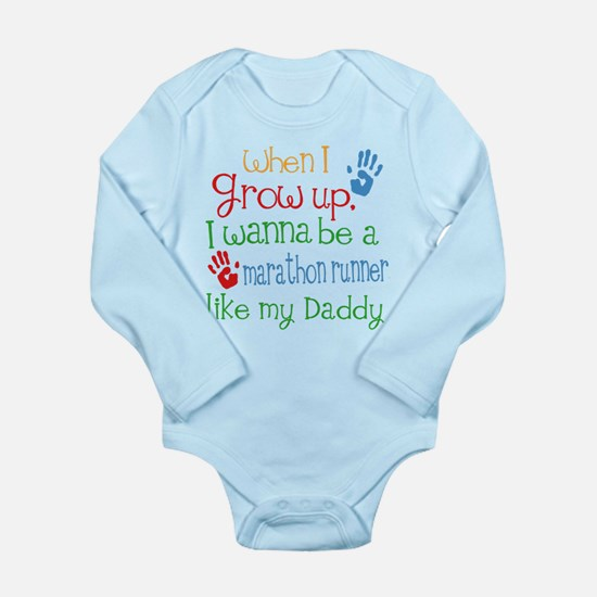 Marathon Runner Like D Long Sleeve Infant Bodysuit