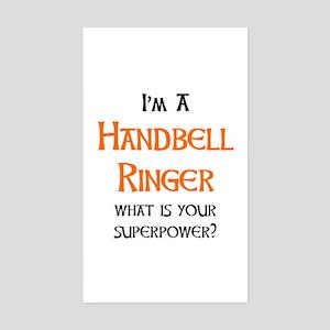 handbell ringer Sticker (Rectangle)