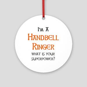 handbell ringer Round Ornament