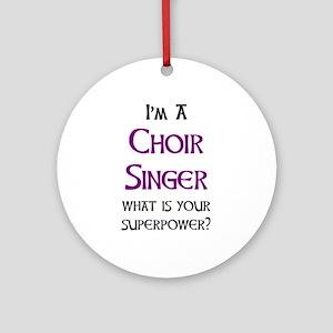 choir singer Round Ornament