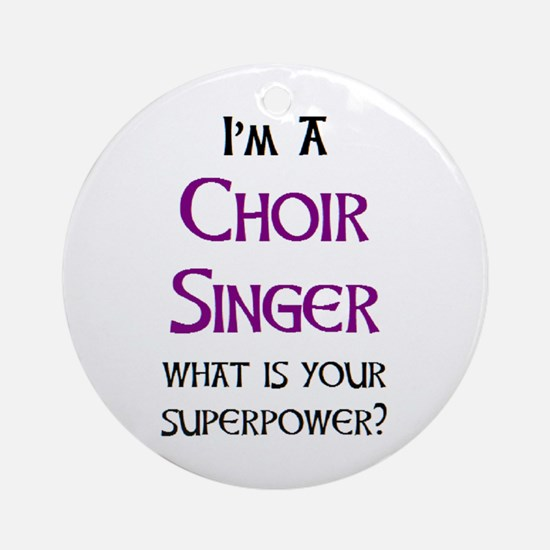 choir singer Round Ornament
