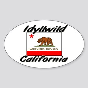Idyllwild California Oval Sticker
