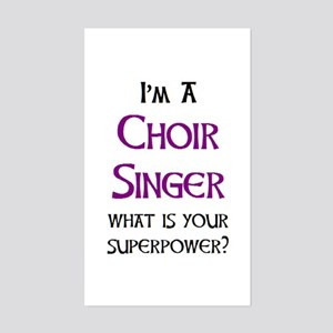 choir singer Sticker (Rectangle)