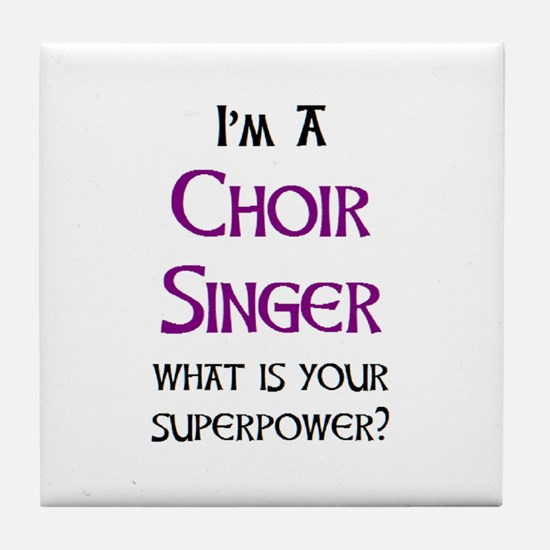 choir singer Tile Coaster