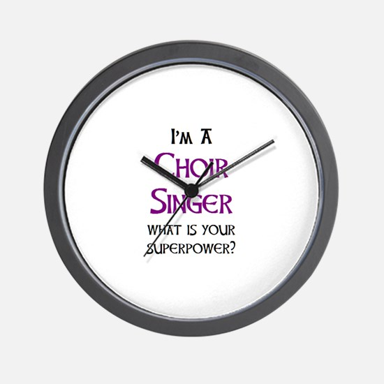 choir singer Wall Clock