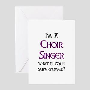 choir singer Greeting Card