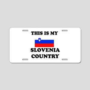 This Is My Slovenia Country Aluminum License Plate