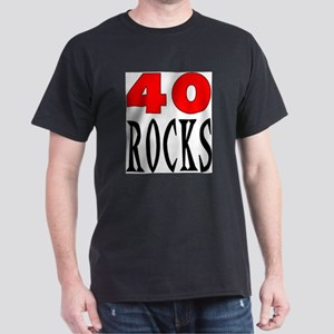 40 ROCKS Ash Grey T-Shirt