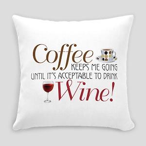 Coffee Wine Everyday Pillow