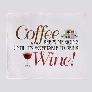 Coffee Wine Throw Blanket