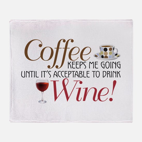 Coffee Wine Throw Blanket