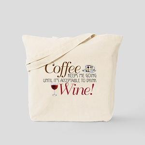 Coffee Wine Tote Bag