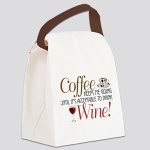 Coffee Wine Canvas Lunch Bag
