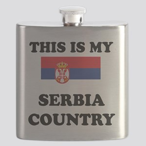 This Is My Serbia Country Flask