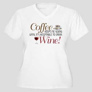Coffee Wine Plus Size T-Shirt