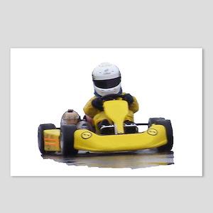 Kart Racing Yellow Kid Kart Postcards (Package of