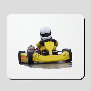 Kart Racing Yellow Kid Kart Mousepad