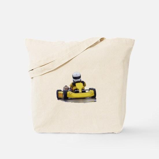 Kart Racing Yellow Kid Kart Tote Bag
