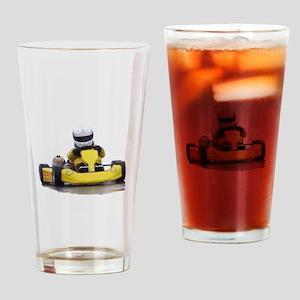 Kart Racing Yellow Kid Kart Drinking Glass