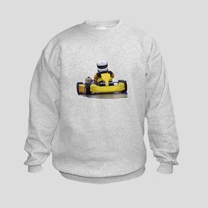 Kart Racing Yellow Kid Kart Sweatshirt