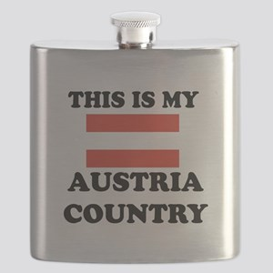 This Is My Austria Country Flask