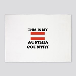 This Is My Austria Country 5'x7'Area Rug