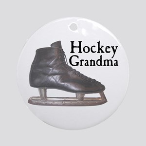 Hockey Grandma Vintage Ornament (Round)