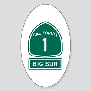 Big Sur California Sticker (Oval)